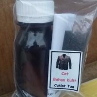 Cat Jaket Kulit / Sepatu Kulit Warna coklat Tua