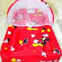 Kasur Bayi / Kasur Kolam Kelambu / Tempat Tidur Bayi Mickey Termurah
