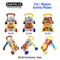 BabyElle 8 in 1 Musical Activity Walker Baby Elle push walker alat bel