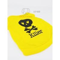 Baju kaos kostum hewan anjing gambar Tengkorak Killer (LCT-026)