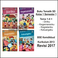 Buku Paket Tematik SD Kelas 1 Tema 1 2 3 4 BSE Dikbud Revisi Terbaru