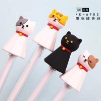 Pulpen Gel Unik / Pen Gel Kucing Warna Warni 5th Edition