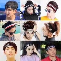 Trendy Sport Headband KPOP BTS Korean Bandana Ikat Kepala Lari Fitness
