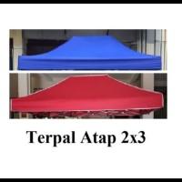 atap terpal tenda uk 2x3 atau atap tenda lipat - Biru