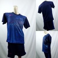 Setelan Baju/Kaos Sepak Bola/Futsal Dri-Fit Print Kids/Anak Nike Biru