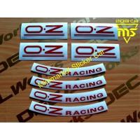 stiker oz racing sticker oz racing velk ring 8pcs - silver