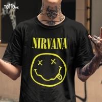 Nirvana - Logo Kaos Band Original Gildan