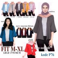 Outer Wanita Luaran Wanita Atasan Muslim Cardigan Bolero Vest p50
