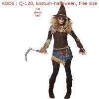 Q120 Kostum Halloween Baju Pesta Cewek Kostum Penyihir
