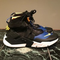 Sepatu Nike Air Huarache Ultra Gripp Black Blue Premium Original