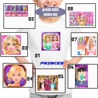 KAOS ANAK ANAK GAME PRINCES 01 - 08 FREE NAMA