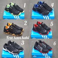 Adidas AX2 size 39 - 43 sepatu pria tracker hiking hitam merah sekolah