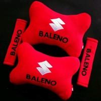 Bantal Mobil Suzuki BALENO Merah