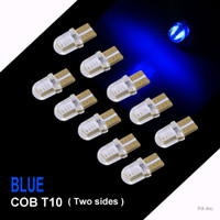 Lampu LED Senja Sein T10 8 LED COB 2 sisi Silicone Gel - Biru
