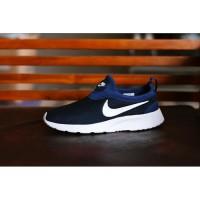 Sepatu Sport Santai Nike Kaishi Run Slip On Tanpa Tali - Biru Dongker/