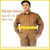 Pemda Pria Aceh Lengan Panjang Stelan Baju PNS Kheki Keki Pemda