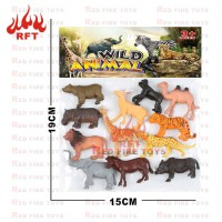 mainan set animal karet paket hewan kebun binatang mini edukatif