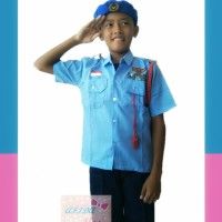 Baju kostum profesi anak TNI-AU Angkatan Udara BARET