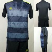 Setelan Baju/Kaos Sepak Bola/Futsal Dri-Fit Print Adidas Abu