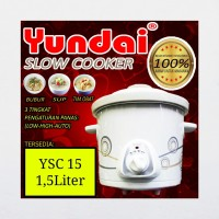 Slow cooker Penghangat Makanan Yundai 1,5L 135watt