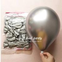 Balon Latex Chrome Silver / Balon Metalik Chrome / Ballon Chrome