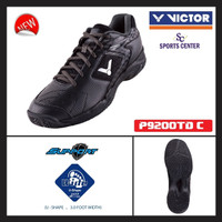 NEW !! Sepatu Badminton Victor P 9200 / P9200 TD Black