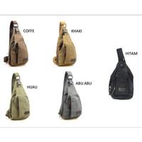 Bodypack Bag Tas Selempang Pria / Men Sling Shoulder Bags / casual - Hitam