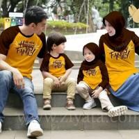 Baju Ziyata ZT 49 Kaos Katun Seragam Keluarga Family Couple Kuning
