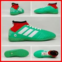 Sepatu Futsal Anak Adidas Predator Hijau List Putih Boot Kids