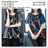 AB238226 Baju Atasan Wanita Blouse Korea Import Jumbo Big Size