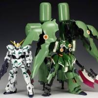 Bandai HG 1/144 Kshatriya repaired Ukuran MG Gundam Unicorn ksatria