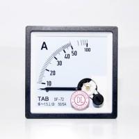 Ampere Meter AC 50A /5A - 72x72 Via CT TAB Amperemeter Analog - HANDAL
