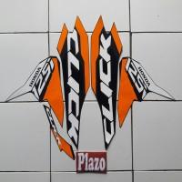 striping Motor Honda Vario Techno 125 Thailand 2018 Full Hitam orange