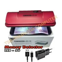 Money Detector Ecomac LED-50 Mesin Deteksi Uang Palsu - Lampu UV LED