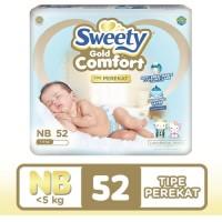 Popok Bayi Sweety Gold Comfort NB New Born 52