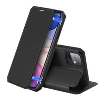 Case Iphone 11 - SKIN X Series, Dux Ducis Premium Flip Case - Hitam