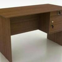 TERMURAH meja kerja kantor ketik tulis kayu 1/2 biro panjang 120 cm