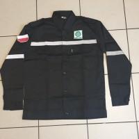 Baju Kerja Safety Plus Logo / Baju Proyek / Seragam Safety Warna Hitam