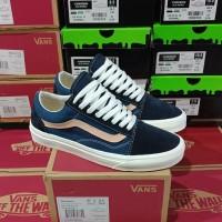 Sepatu Vans Oldskool Sailor Blue Sneakers Wanita Premium