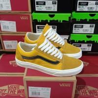 Sepatu Vans Oldskool Old Gold Black Sneakers Pria Premium