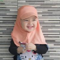 jilbab topi anak langsungan 3 bln - 3 th