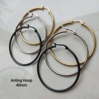 Anting Hoop Bulat 40MM Stainless Steel Korean Style