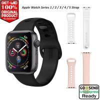Tali Jam Apple Watch Series 5 4 3 2 1 Spigen Watch Band Air Fit - Black, 44 42 mm
