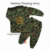 Setelan baju army panjang/baju army baju abri/baju tentara anak