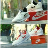 Sepatu Sport Casual Nike Airmax Running - Full Putih Merah - Santai