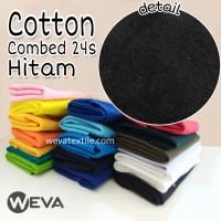 Kain Katun Cotton Combed 24s Bahan Kaos Hitam Meteran
