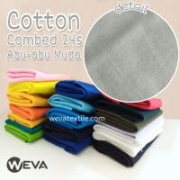 Kain Katun Cotton Combed 24s Bahan Kaos Abu Muda Meteran