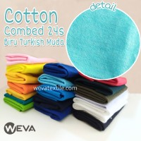 Kain Katun Cotton Combed 24s Bahan Kaos Turkish Muda Meteran