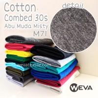Kain Katun Cotton Combed 30s Bahan Kaos Abu Misty M71 Meteran