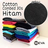 Kain Katun Cotton Combed 30s Bahan Kaos Hitam Meteran